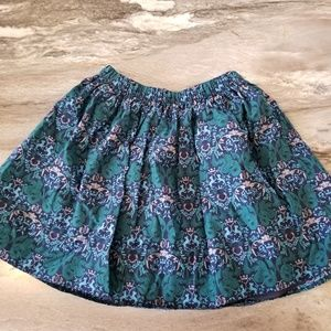 Tea Collection Teal Blue Dragon Skirt Elastic wais